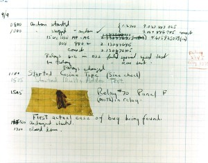 Hopper Debugging Report (1947) - with bug. Image is public domain.