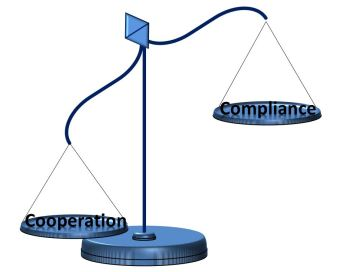 Cooperation vs Compliance